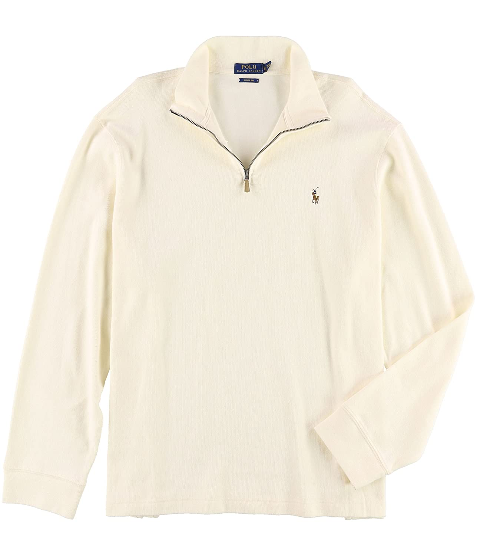c59e6b07d Ralph Lauren Mens Estate-Rib Pullover Sweater Off-White S at Amazon Men s  Clothing store