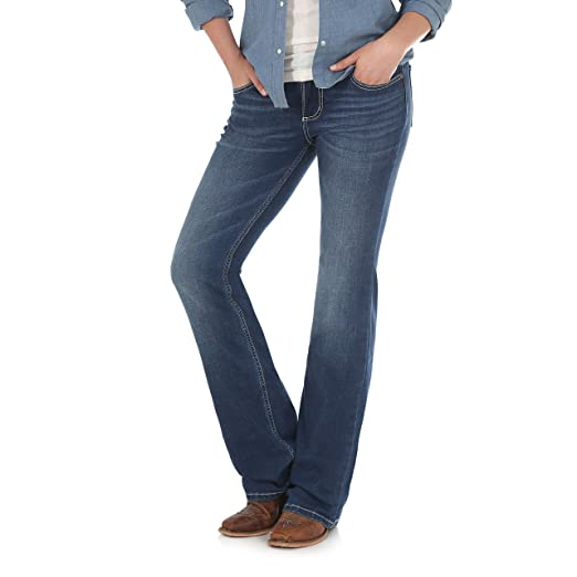 85c84639 Wrangler Women's Retro Mae Mid Rise Stretch Boot Cut Jean at Amazon ...
