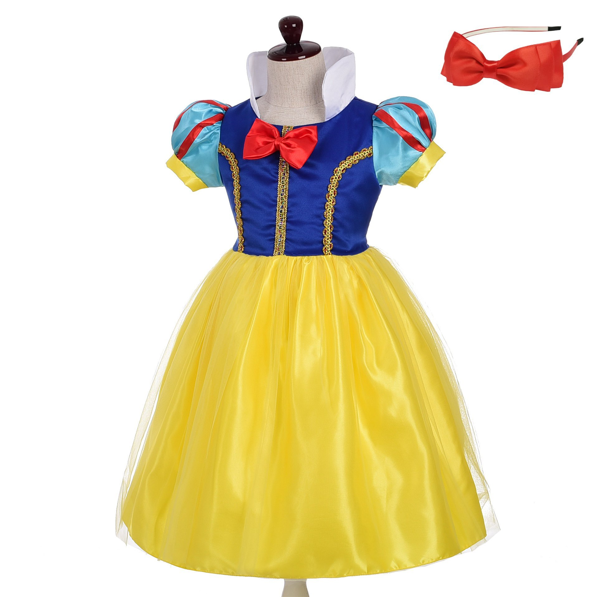 Lito Angels Baby-Girls' Princess Snow White Costume Fancy Dresses up Halloween Outfit with Headband Size 18-24 Months B