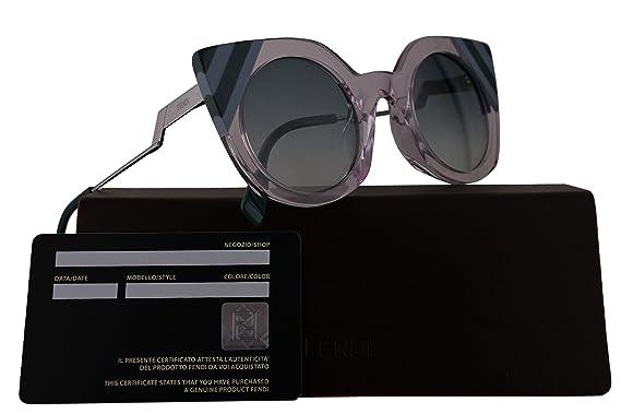 d00e02d526 Fendi FF0240 S Sunglasses Pink w Green Gradient Lens 47mm 35J9K FF0240S FF  0240S FF 0240 S  Amazon.co.uk  Clothing
