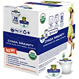 SOLLO Coffee Pods Compatible With 2.0 K-Cup Keurig Brewers, Mushroom Coffee with Chaga, Immune System Support, 24 Count Per B