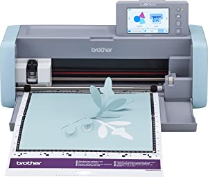 """Brother ScanNCut DX, SDX125, 5"""" LCD Touch Screen, Wireless Network Ready, 600 DPI Scanner, 682 Built-in Designs Home Electronic Cutting Machine, Previous Model, Grey/Aqua"""