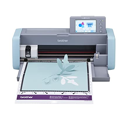 """e130983e9 Brother ScanNCut DX, SDX125, 5"""" LCD Touch Screen, Wireless Network Ready,  600 DPI Scanner, 682 Built-in Designs Home Electronic Cutting Machine,  Grey/Aqua"""