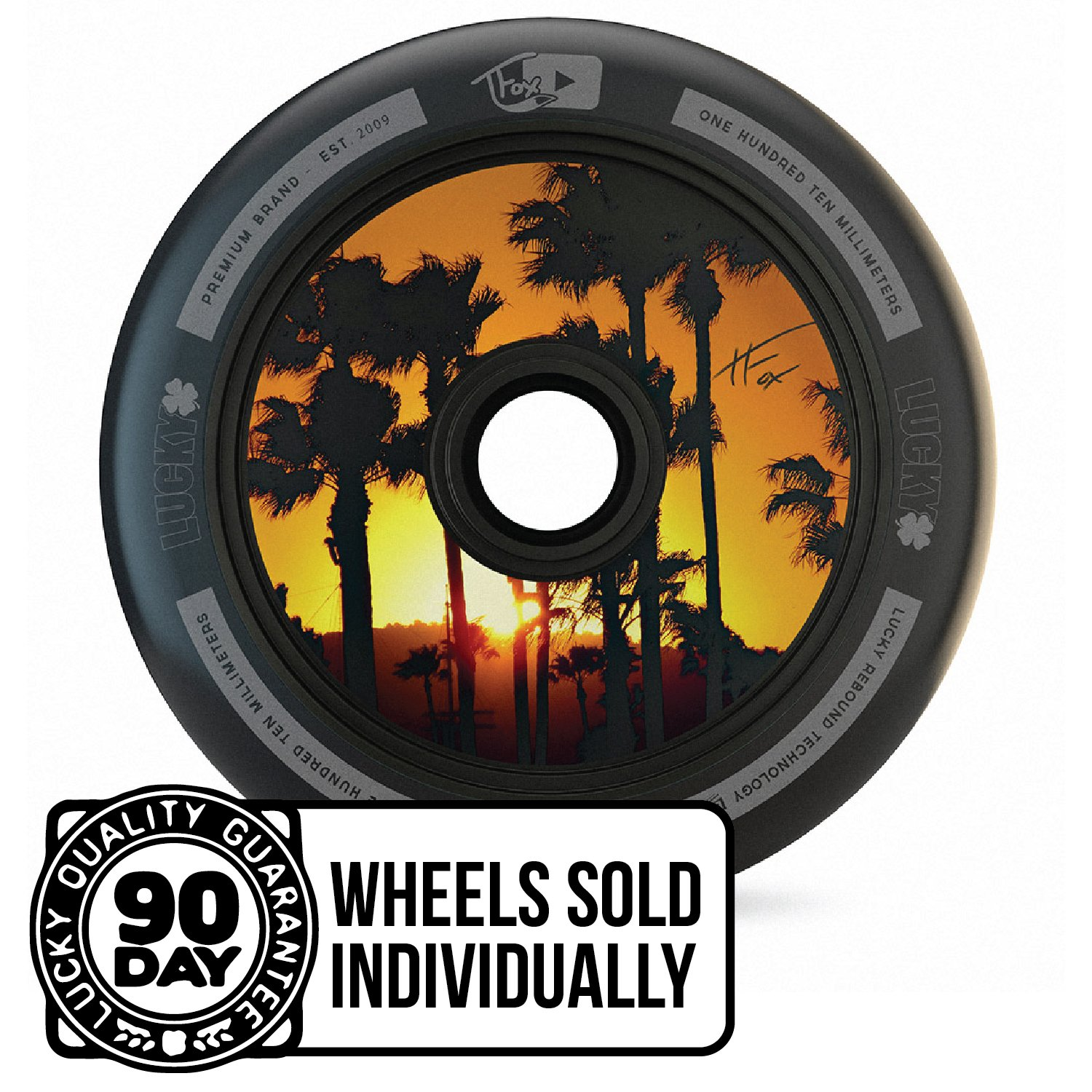 1-Count Lucky TFox Signature Hollow Core Scooter Wheel Lucky Scooter