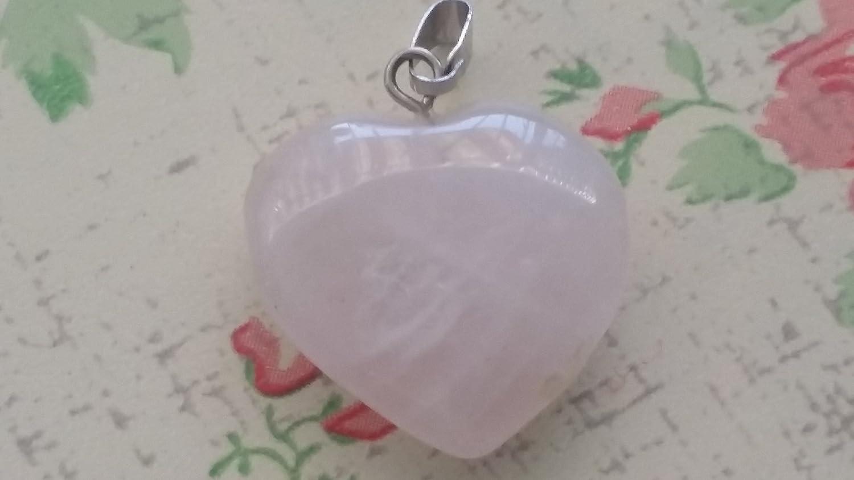 Cuarzo rosa corazon san valentin