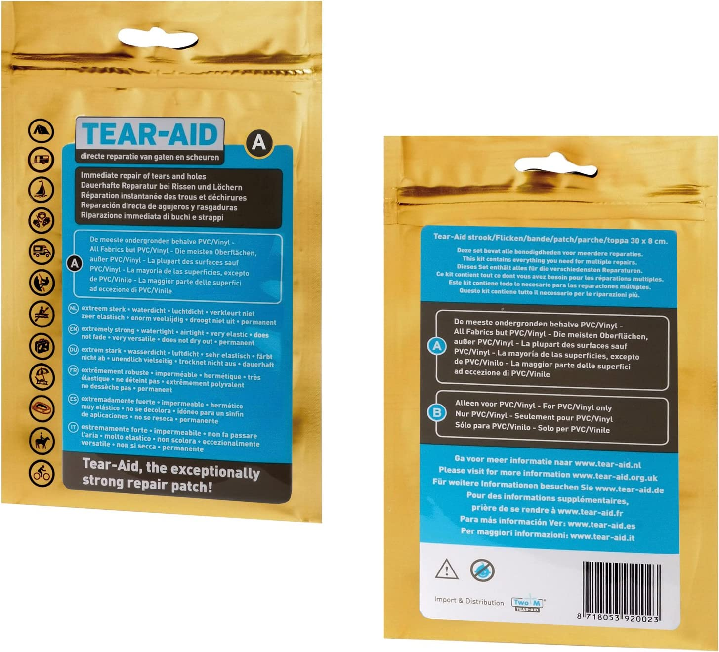 Tear Aid tipo a reparaturflicken per quasi tutti i materiali