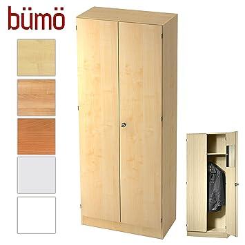 Bümö® Office Garderobenschrank abschließbar aus Holz ...
