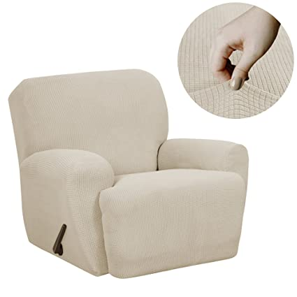MAYTEX Reeves Stretch 4 Piece Recliner Arm Chair Furniture Cover/Slipcover  With Side Pocket