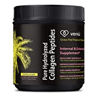 Venu Hydrolyzed Collagen Peptides Powdered Protein Drink Mix - Helps Improve Digestive Health and Weight Loss - Builds Muscle and Fight Aging for Radiant Skin -222 Grams