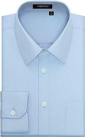 HISDERN Camisa de Vestir Formal para Hombre Camisas de ...