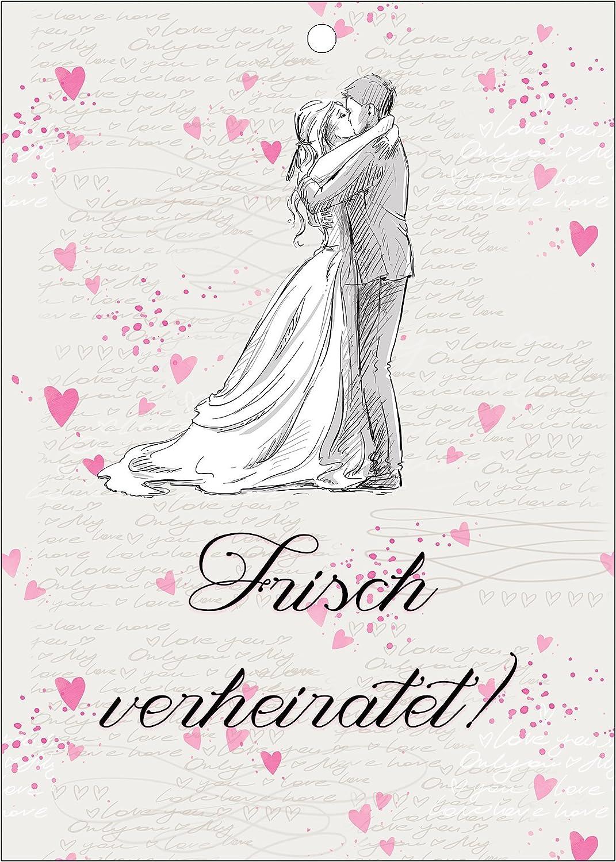 Flugkarten guter Wunsch f/ürs Brautpaar 50 St/ück Hochzeitsspiel extra leicht zum weit fliegen Ballonkarten