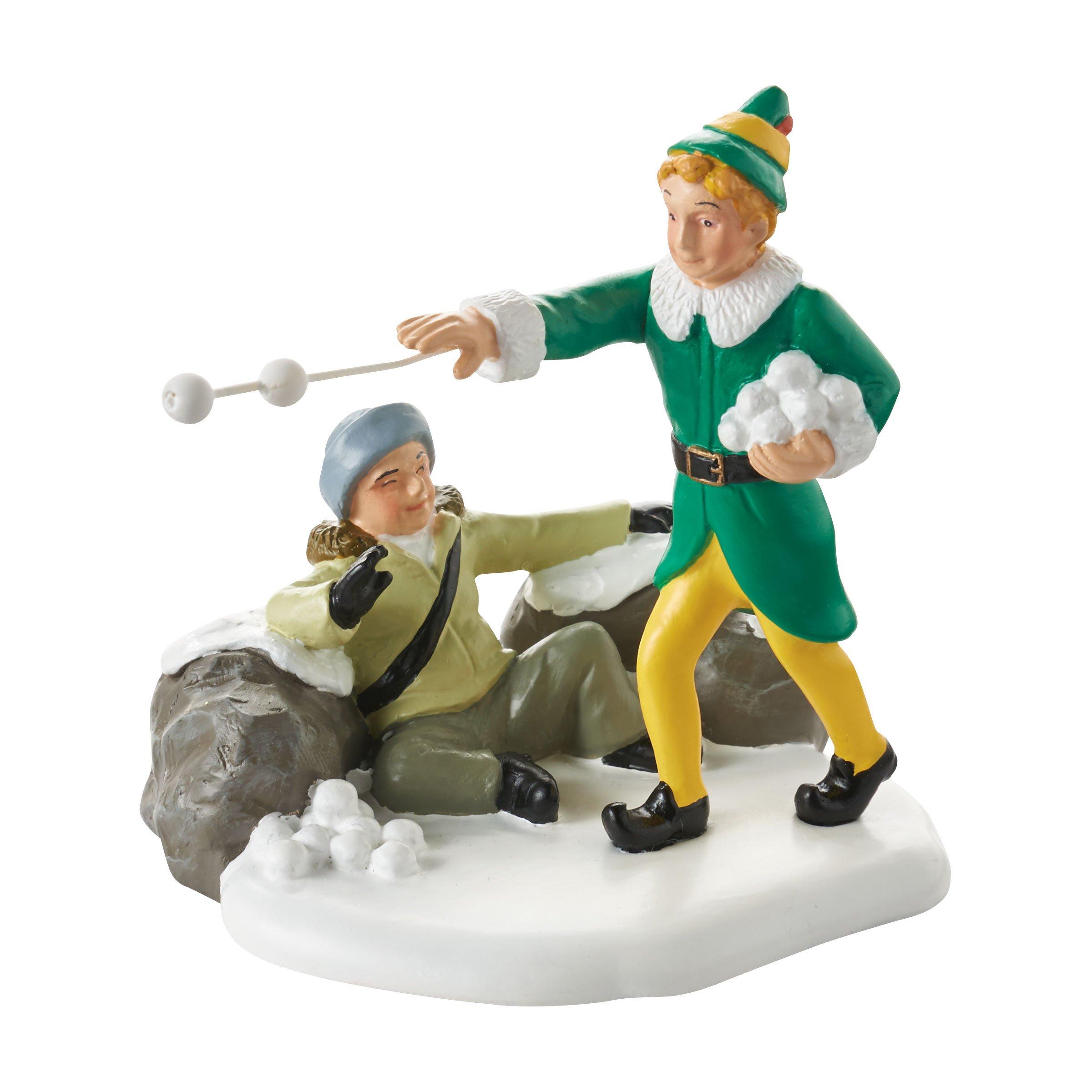 Department 56 Elf the Movie Village Accessory Snowball Fight Figurine, 2.75 inch