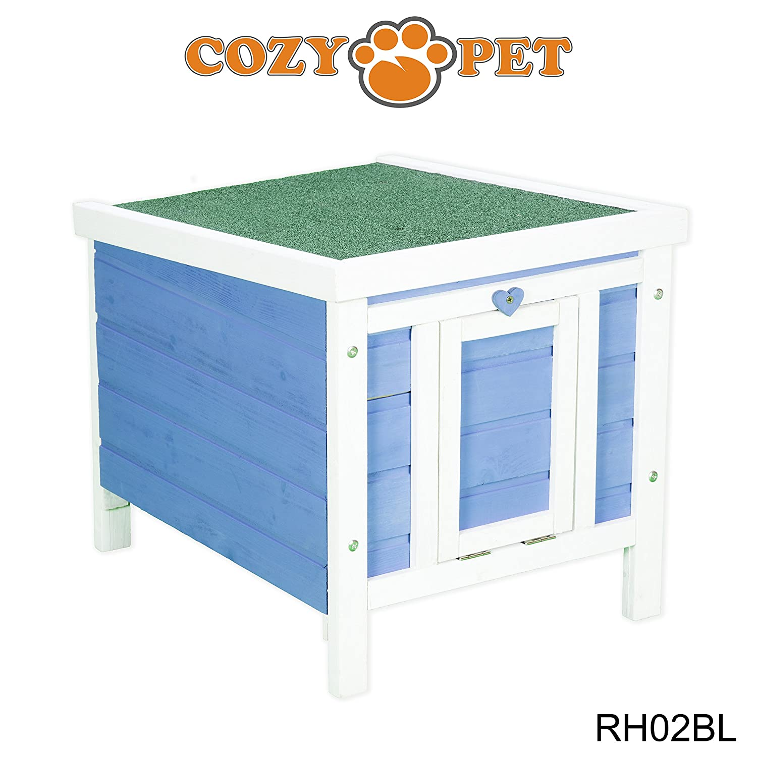 blueE RH02BL  bluee HideCozy Pet Rabbit Hutch Guinea Pig Hutches Run Runs Large 2 Tier Double Decker Ferret Cage in Pink RH01P (We do not ship to Northern Ireland, Scottish Highlands & Islands, Channel Islands, IOM or IOW)