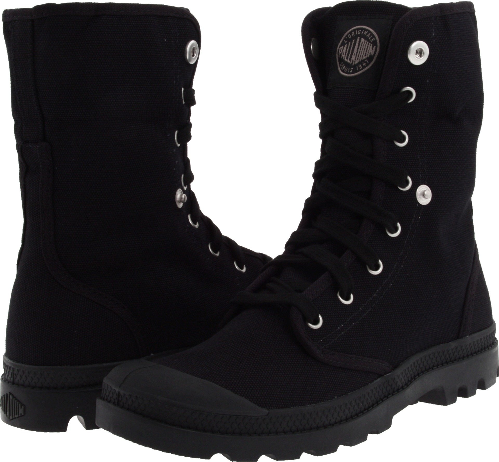 Palladium Boots Mens Baggy Canvas Boots , Black/Black, 11.5