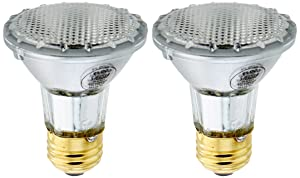 Feit 38PAR20/QFL/ES/2 38-watt Energy Saving Halogen PAR20 Reflector, 2-Pack