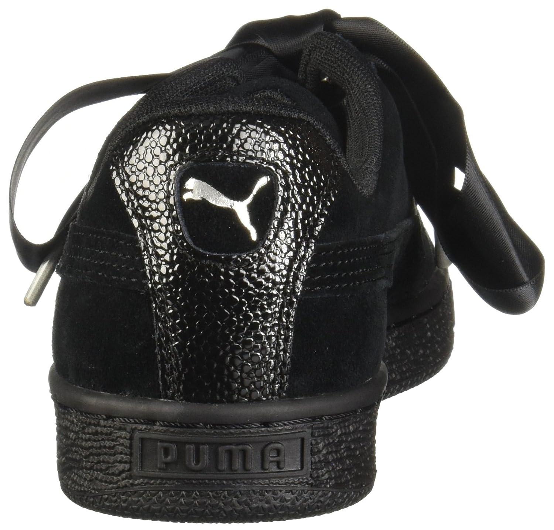 PUMA Suede Heart Bubble B075RD66HS 7 M US|Puma Black