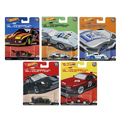 Hot Wheels Car Culture 2020 Silhouettes Set of 5, 1/64 Scale Diecast Cars: Toys & Games