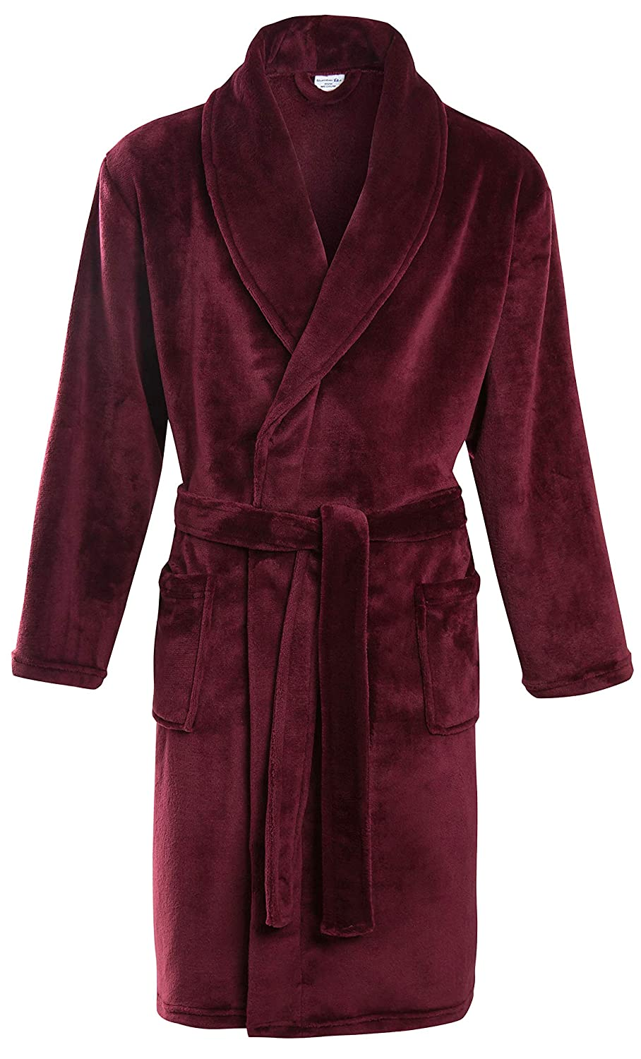 Groovy Uk Mens Venom Dressing Gown Black//Charcoal