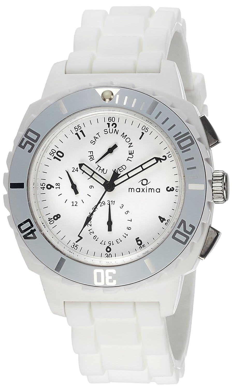 Maxima Chrono Analog White Dial Men's Watch - 30762PPGN