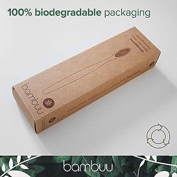 Cepillo de dientes de bambú (paquete de 4 unidades ...