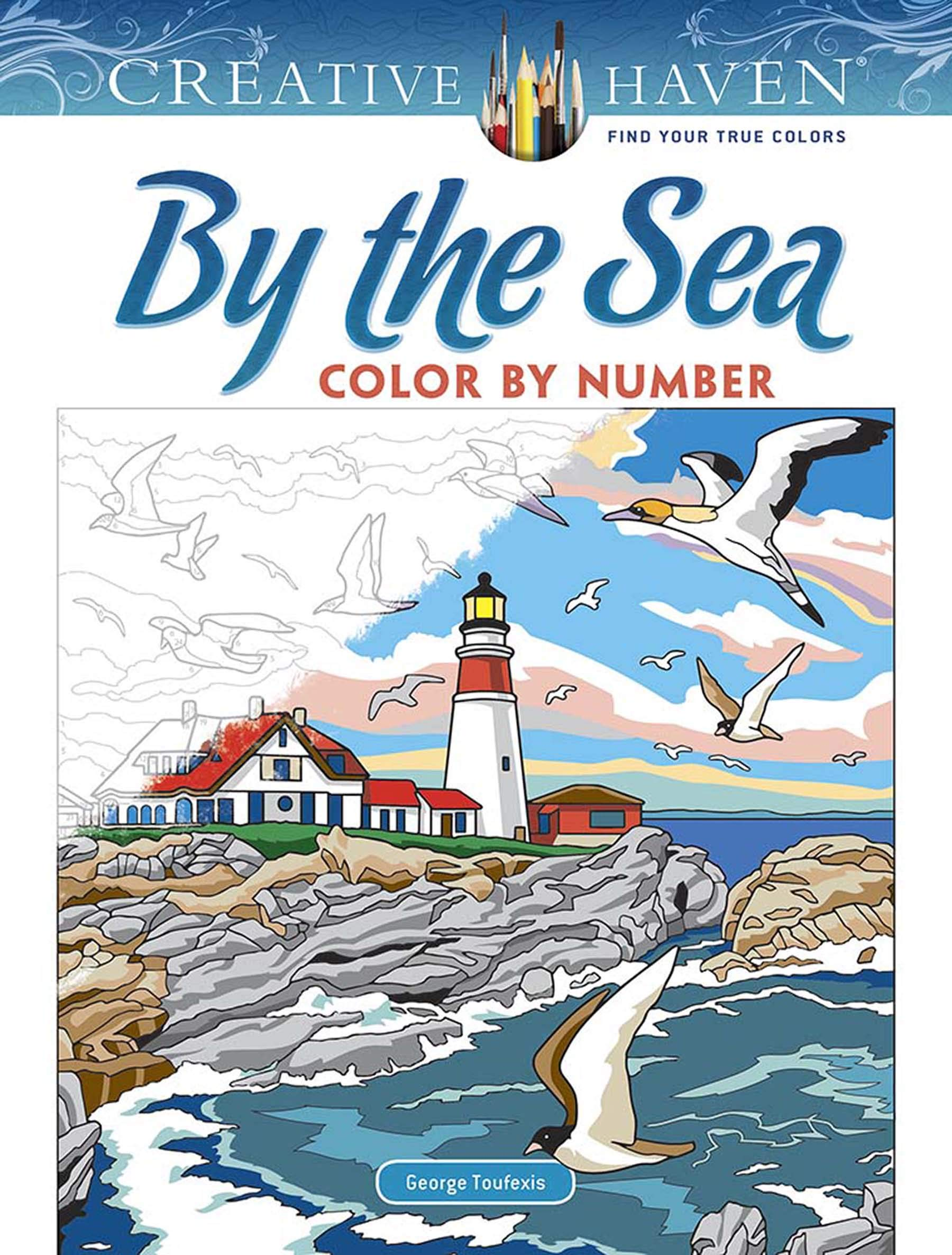 Creative Haven By The Sea Color By Number  Creative Haven Coloring Books