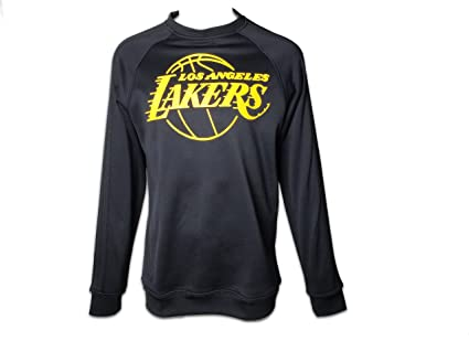 adidas NBA – Sudadera la lakers (gr. L) Fan Gear Crew p53283 Negro