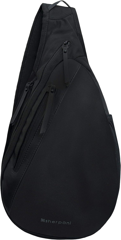 Sherpani Esprit, Anti Theft Travel Sling Bag, Shoulder Sling Bag, Crossbody Sling Backpack for Women with RFID Protection (Carbon)