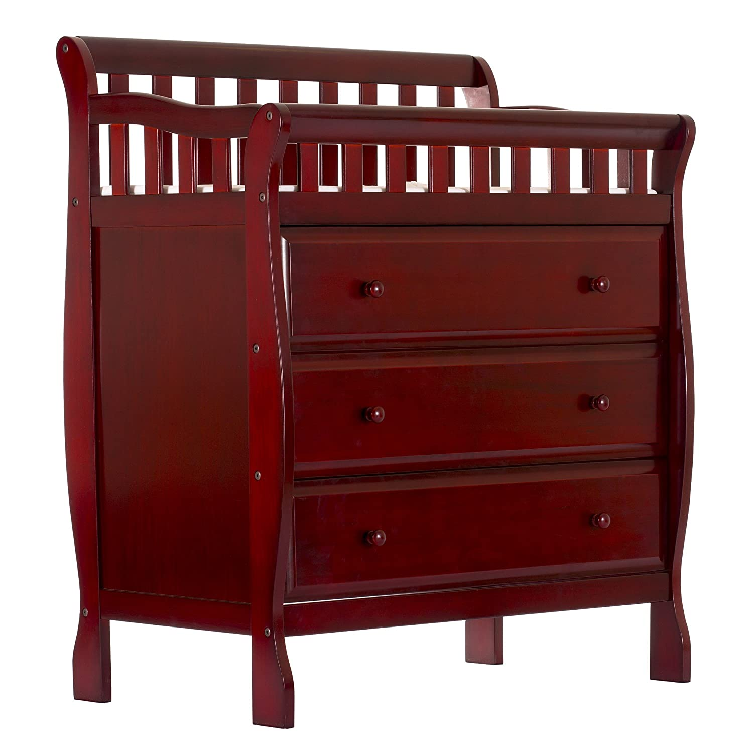 Amazon.com : Dream On Me Marcus Changing Table And Dresser, Cherry, Small :  Baby