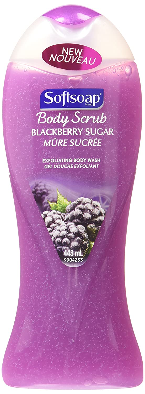 Softsoap Exfoliating Body Wash, Blackberry Sugar Scrub, 443 mL 128267
