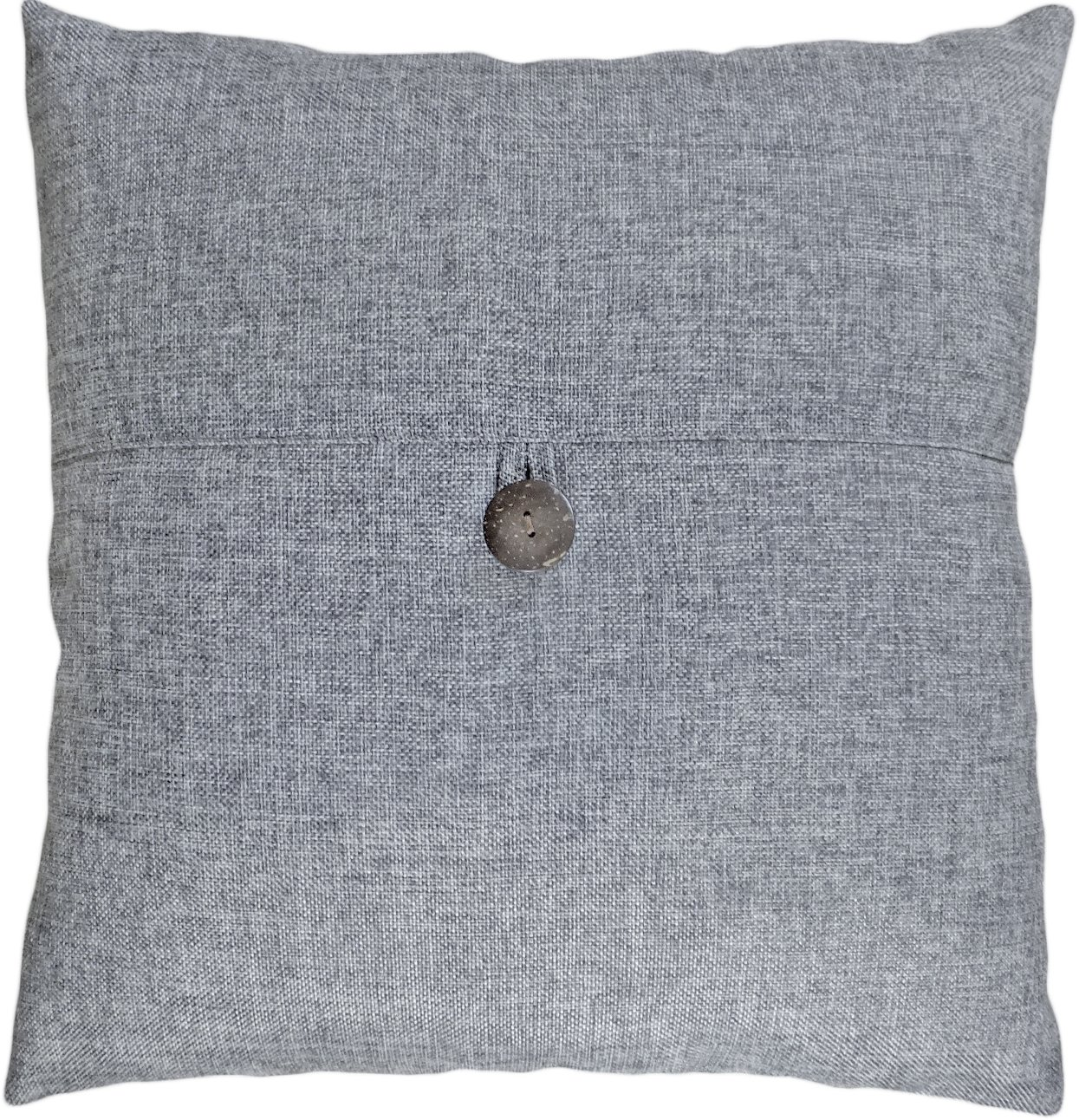 amazoncom decorative button grey throw pillow cover  home  - amazoncom decorative button grey throw pillow cover  home  kitchen