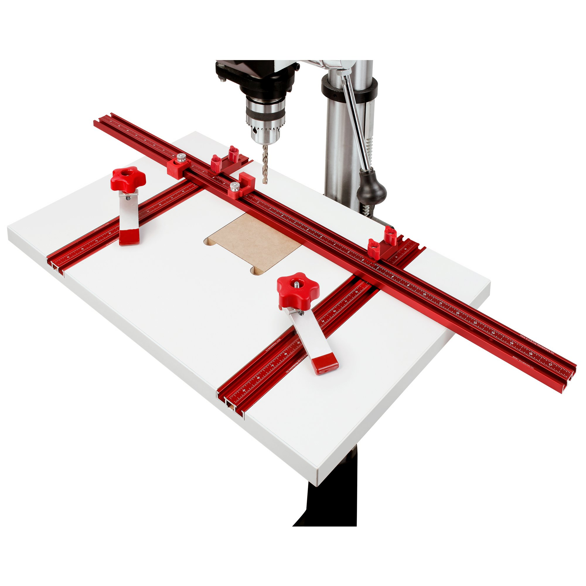 Woodpeckers WPDPPACK1 Drill Press Table with 2 Hold Down Clamps by Woodpeckers