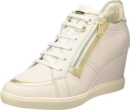 Excluir espada Aplastar  Geox Women's D Eleni A Hi-Top Trainers, Bianco (Blanc (C1240), 2.5: Amazon.co.uk:  Shoes & Bags