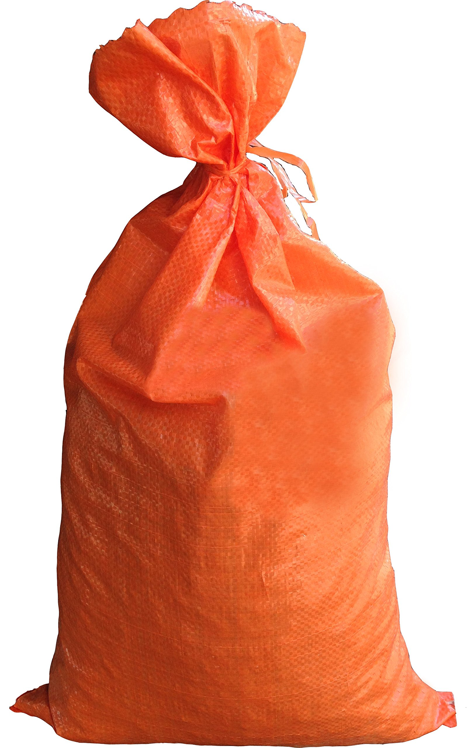 Sandbags for Flooding - Size: 14'' x 26'' - Color: Orange - Sand Bag - Flood Water Barrier - Water Curb - Tent Sandbags - Store Bags by Sandbaggy (50 Sandbags) by Sandbaggy