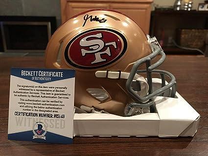 ae4e6680b Autographed George Kittle Mini Helmet - Speed Witness Beckett - Beckett  Authentication - Autographed NFL Mini