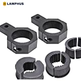 "LAMPHUS Cruizer LED Off-Road Light Vertical Bar Clamp Mounting Kit 1""/1.5""/1.75""/2"" [2 Clamps] [Includes Allen Hex Key] [User-friendly] - For Light Bar Bull Bar Tube Clamp Roof Roll Cage Holder"
