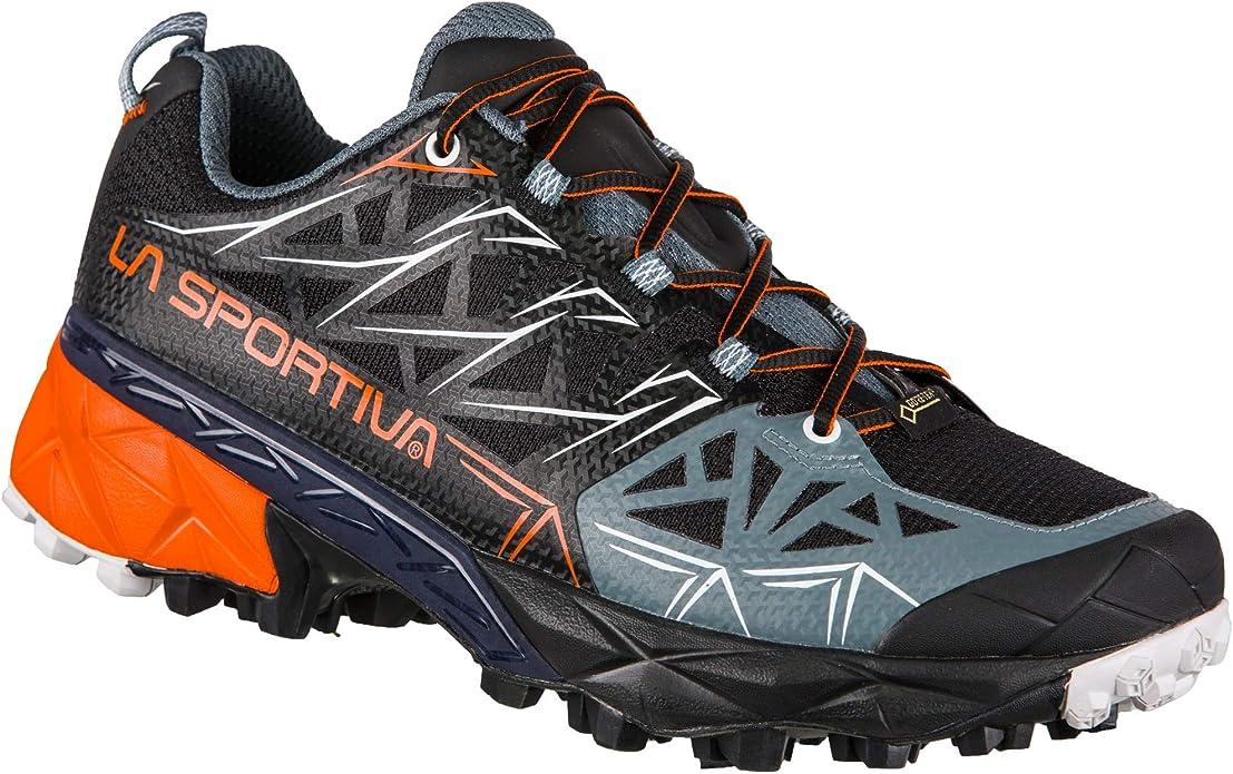 La Sportiva Akyra Woman GTX, Zapatillas de Trail Running para Mujer, Multicolor (Black/Pumpkin 000), 37 EU: Amazon.es: Zapatos y complementos