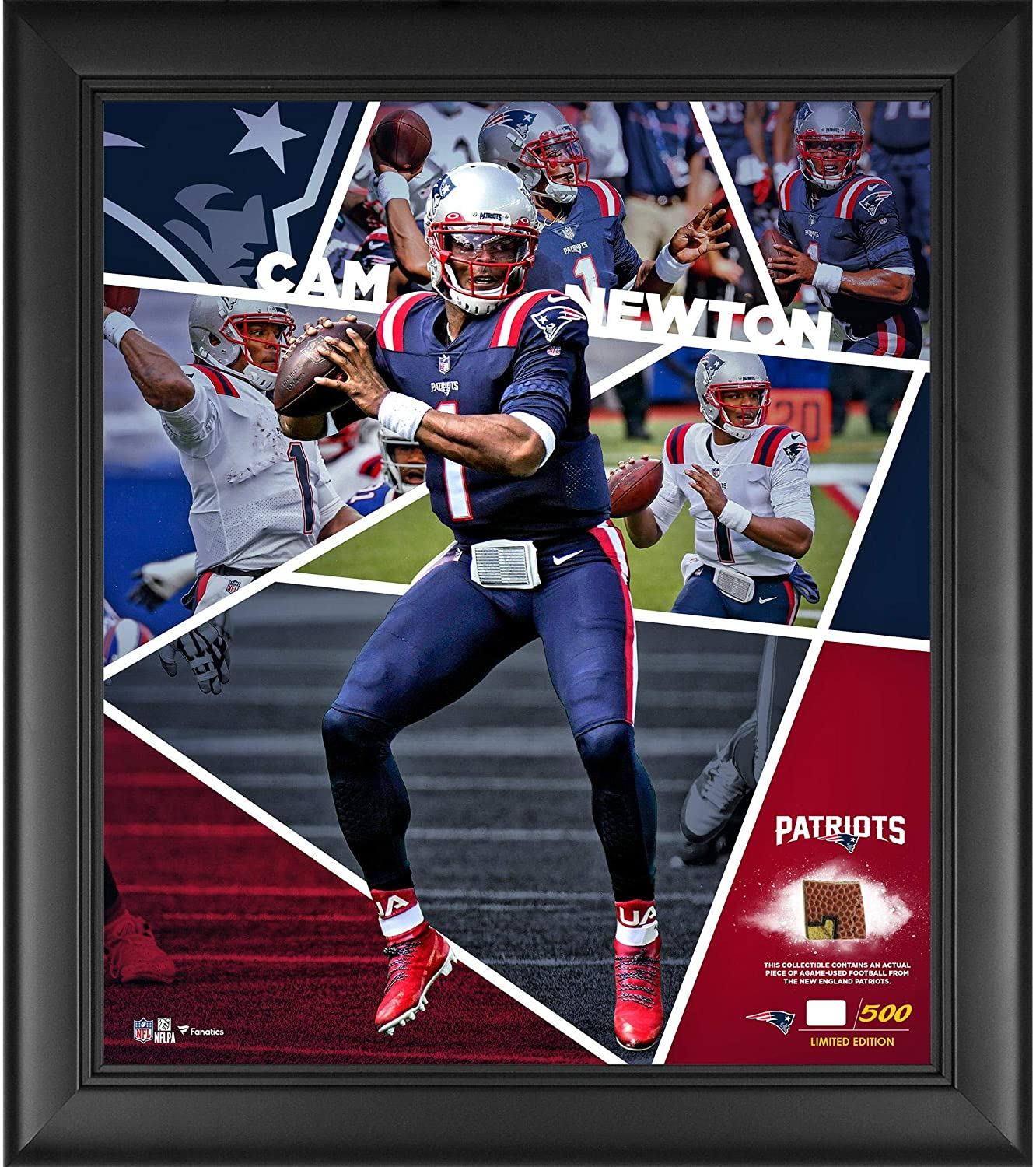 Cam Newton List price New England Patriots Framed Impact C x Discount mail order Player 15