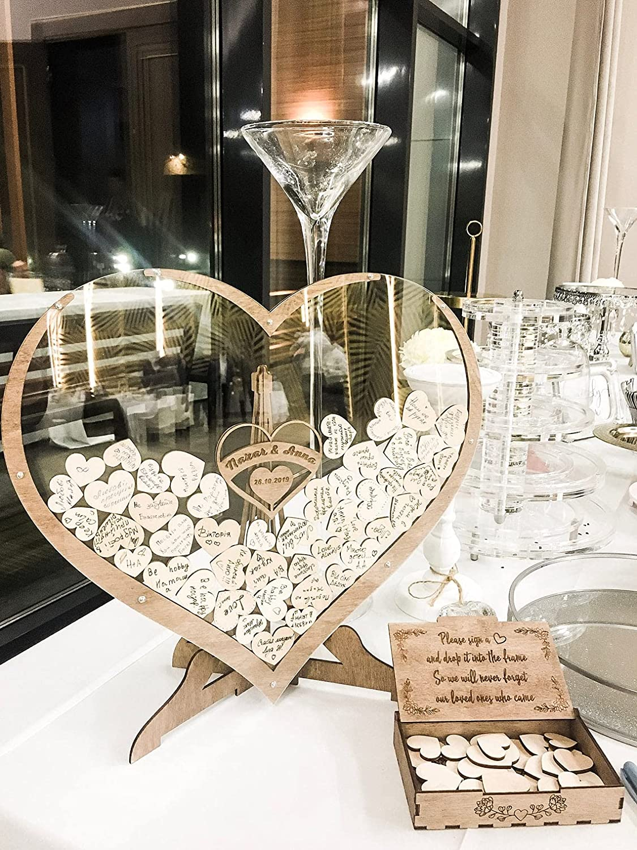 Personalized Wedding Guest Book Wedding Drop Box Wooden Rustic Wedding Decor Alternative Guest Book by WeddingByEli
