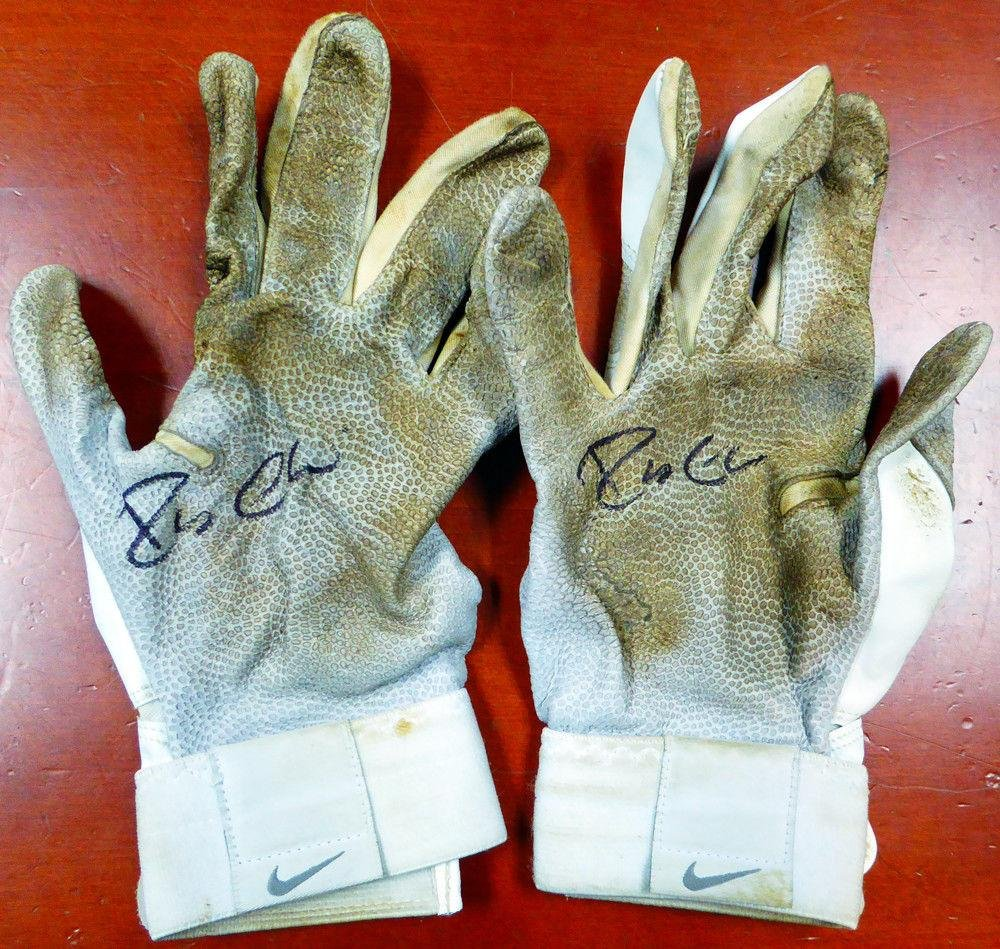 Robinson Cano Autographed Game Used Nike Batting Gloves Signed Cert 7A96777 PSA/DNA Certified MLB Game Used Gloves