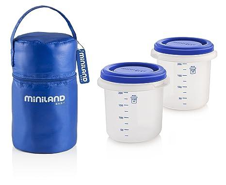 Miniland Pack-2-Go Hermifresh color azul Herm/éticos de vac/ío con funda