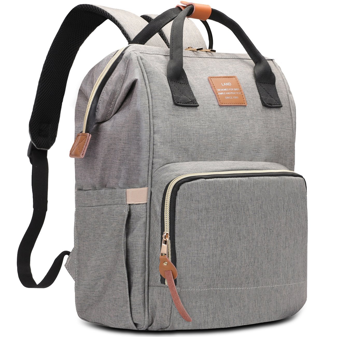 e0af35e2f1 Amazon.com   HaloVa Diaper Bag Multi-Functional Portable Travel Backpack  Nappy Bags for Baby Care