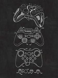 Xbox Controller, Video Games, Blueprint Patent, Patent Poster, Safety Blueprint Poster, Art, Gift, Poster Print, Patent Poster