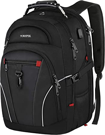 HIFUAR Travel Laptop Backpack with TAS Lock Waterproof Anti Theft Business Large Capacity Computer Shoulder Bag with USB Charging Port for College Student Women Men Fits 17 Inch Laptop Notebook