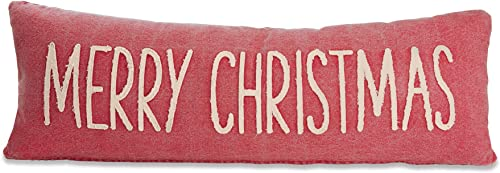 Mud Pie Merry Christmas Pillow, RED