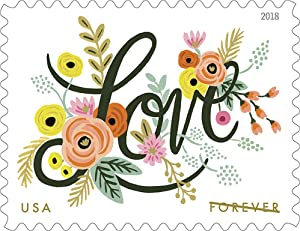 Love Flourishes Sheet of Twenty Forever Postage Stamps Scott 5255