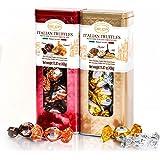 Delicia Italian Truffles(Cocoa/Caramel, Hazelnut/Milk), Set of 2