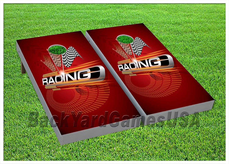 Cornhole Beanbag Toss Game WバッグゲームボードRacing車トラックTrophy Set 967   B07792RC96