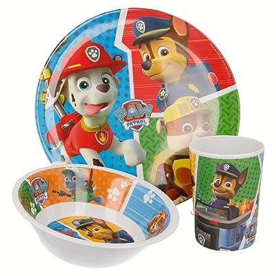 Paw Patrol La Patrulla Canina- Set Desayuno melamina sin Orla 3 Piezas (STOR 82790): Juguetes y juegos