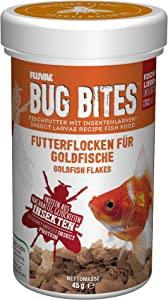 Fluval Bug Bites Goldfish Fish Food, Flakes for Small to Medium Sized Fish