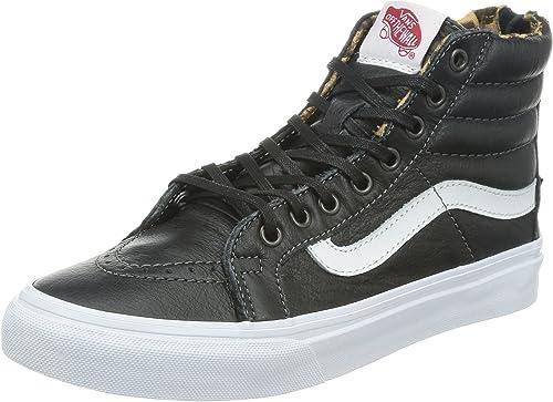 Vans Chaussures SK8 HI Slim Zip Leather Black Leopard